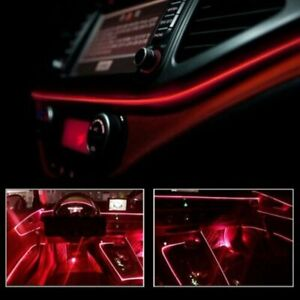 Red LED Auto Car Interior Decor Atmosphere Wire Strip Light Lamp Accessories 12V $8.99