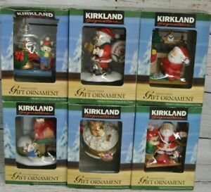 Kirkland Signature Collectible Gift Christmas Ornaments New In Box Lot of 6 $29.99