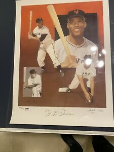 Signed Lithographs Of 5 Hall Of Famers Kiner Appling Irvin Sewell amp; Herman. $179.99