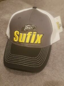 NWT SUFIX Fishing Line Promo Hat new W tags embroidered snap back trucker Last 1