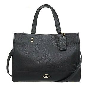 NWT COACH Dempsey Carryall Shoulder Tablet Classic Leather Black 1959 FREE SHP