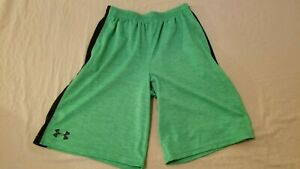 Boys Under Armour Shorts YXL Green Athletic Gym Workout $11.96