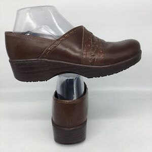 Abeo Femi Clogs Nursing Neutral BIO Career Brown Leather Women Size 8 N