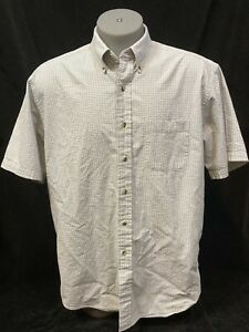 Brooks Brothers Sport Shirt Seersucker Oxford Button Front Plaid Mens Large $23.00