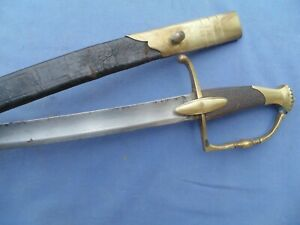 PRETTY AND NICE OFFICER INFANTRY SWORD SABER NAPOLEONIC W SCABBARD TO 1800 $950.00
