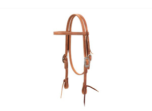 Weaver Pony Harness Leather Headstall with Floral Designer Hardware $48.99