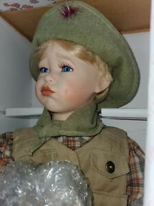 Wimbledon Collection quot;Mikey Goes Campingquot; porcelain doll * NIB * COA boy scouts