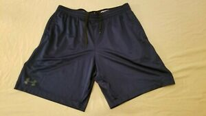 Mens Under Armour Shorts XL Navy Blue Athletic Gym Workout $22.92