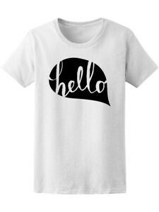 Cute Hand Drawn Hello Women#x27;s Tee Image by Shutterstock