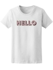 Retro Vintage Sign Hello Women#x27;s Tee Image by Shutterstock
