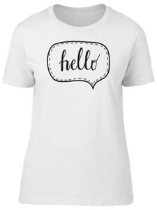 Speech Bubble Hello Women#x27;s Tee Image by Shutterstock