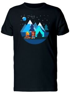 Blue Moon Over Camping Women#x27;s Tee Image by Shutterstock
