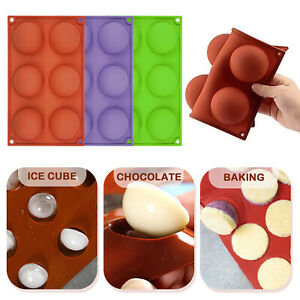 6 Holes Silicone Molds For Making Hot Chocolate Bomb Cake Jelly Dome Mousse USA $5.99