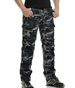 Combat Fishing Trouseres Workwear Camouflag Sweatpants Camping Padded Pants