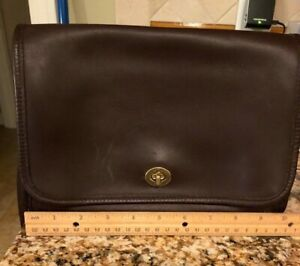 coach handbags used brown leather