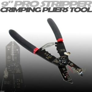HD 9 PRO STRIPPER CRIMPING PLIERS AWG 8 to 18 Size Wire $17.99