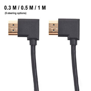 DI Down Right Angle HDMI Male to Female Adapter Converter Extender Cable Angle $5.03