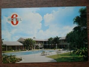 Vintage Postcard Motel 6 of Brownsville Texas with view of pool