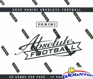 2020 Panini Absolute Football MASSIVE Factory Sealed JUMBO FAT PACK Box 240 Card
