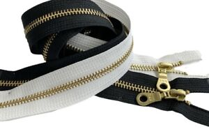 YKK #5 Brass Metal Donut Pull Zippers for Sewing Bags Craft Closed End 4quot; to 36quot; $3.99