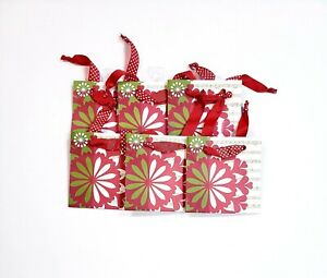 The Gift Wrap Company 6 Pack Square Gift Bags Small 5quot; x 5quot; x 2quot; Festival Flakes $13.39