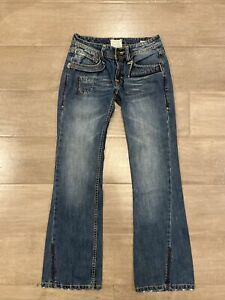 Jimmy TAVERNITI SO Jeans Courtney Military Army Star Patch Boot Cut 28x31 $24.98