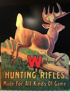 REPRO Winchester Hunting Rifles Standing Advertising Die Cut