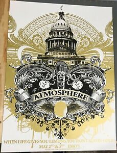Atmosphere: Austin 2008 Poster Signed and Numbered Jared Connor AP Run of 20 $40.00