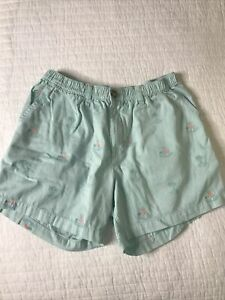 """Chubbies Mens Shorts Light Blue 5.5"""" Inseam Large Waist Palms and Volcano $26.99"""