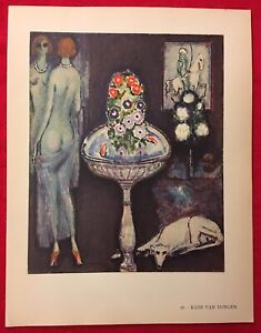 Kees Van DongenComposition Offset Lithograph1942Plate Nr.16.Plate signed $27.00