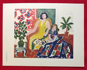 Henri Matisse La Lecture Offset Lithograph1942Plate Nr.9.Unsigned $27.00
