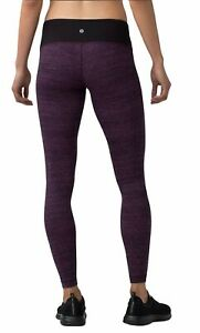 Lululemon Wunder Under Low Rise 28quot; Luxtreme Tight Salt Dark Mystic Size 6 EUC $67.00