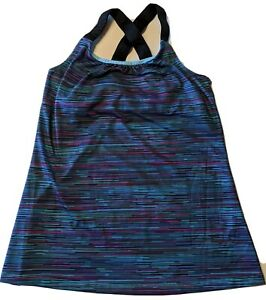 Champion Duo Dry Womens Stretch Yoga Workout Tank Top Size: Small Built in Bra $12.50