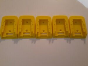 5xPack Dewalt 20V 60v Battery Mount Hanger Holder Made in USA Lot of 5