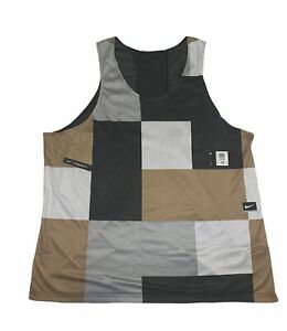NIKE DRY MEN REVERSIBLE COLOUR BLOCK MESH TRAINING TANK VEST TOP CJ4744 010 4XL $34.99