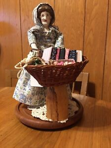 OOAK Vintage Peddler doll with Hand Carved Wood face with Antique legs amp; arms. $79.00
