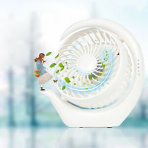USB Rechargeable Portable Quiet Desktop Fan Personal Cooling Fan 180° Rotation