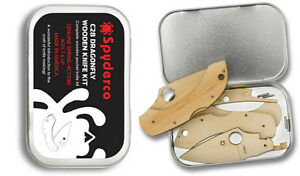 Spyderco Wooden Kit Dragonfly with Tin Perfect for Kids amp; Collectors WDKIT1 NEW $14.39