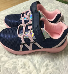 Carter's Girls Shoes Navy Pink Sneakers Size 10 $19.90