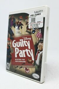 Disney Guilty Party Nintendo Wii Action Adventure Game W User Manual $17.95