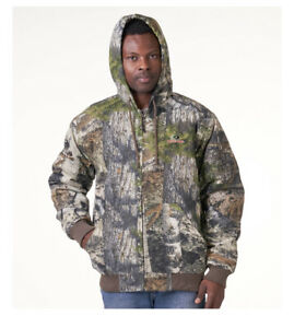 Mossy Oak Men's Bomber Jacket with Hood Insulated Camo Hunting 2XL NWT