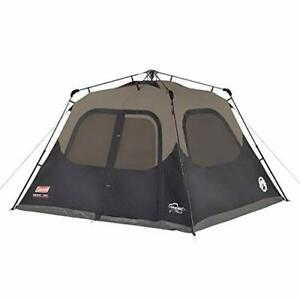Coleman Camping Tent 6 Person Cabin Tent with Instant Setup Assorted Styles