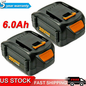 For WORX WA3520 20V Lithium Ion Battery 6.0Ah WA3575 WA3525 WA3578 WA3512 WG151s