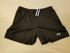 Mens Under Armour Shorts XL Black Athletic Gym Workout $15.99