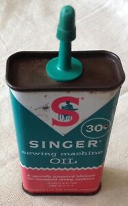Vintage Singer Sewing Machine Oil Can 4 Oz. Advertising $9.98