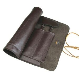 Pocket Knives Storage Leather Roll Up Bag Cover Tools Organizer Free Shipping