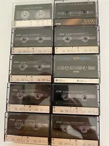 TDK SA90 HIGH BIAS CASSETTE TAPES. VARIOUS VERSIONS. TAPES MADE IN USA $18.00