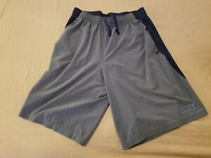 Mens Under Armour Shorts M Medium Gray Athletic Gym Workout Basketball $13.88