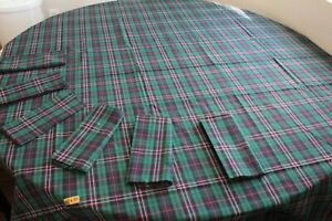 Tartan Tablecloth and Set of 6 Napkins 100% Cotton Made in Scotland