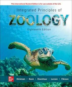 Integrated Principles of Zoology 18E By Cleveland Hickman Susan Keen NEW 18th $79.60
